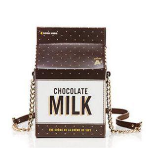kate spade chocolate milk purse crossbody bag nwot